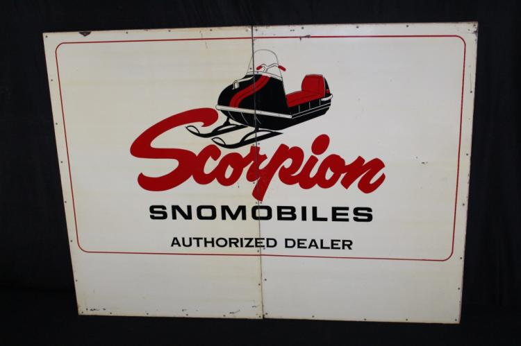 RARE SCORPION SNOWMOBILES AUTHORIZED DEALER SIGN