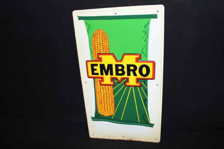 Embro Hybrid Seed Corn Tin Farm Sign