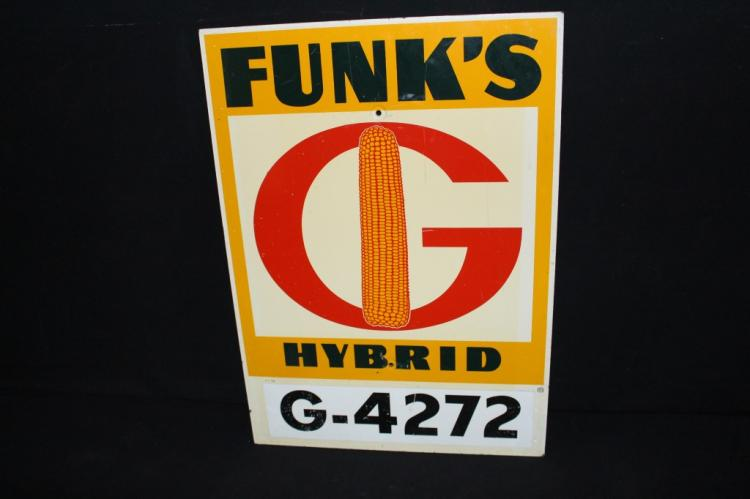 Funks Hybrid Seed Corn Farm Sign