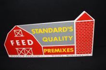 Standard Quality Feeds Tin Farm Barn Sign Omaha