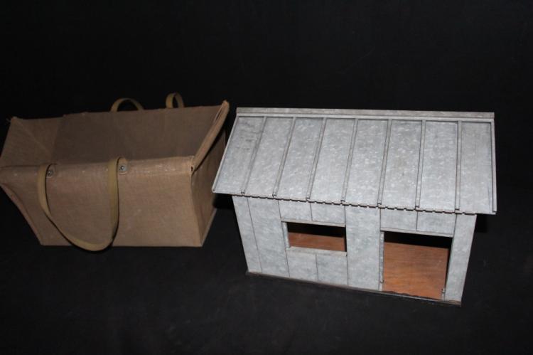 Salesman Sample Steel Building & Carrying Case