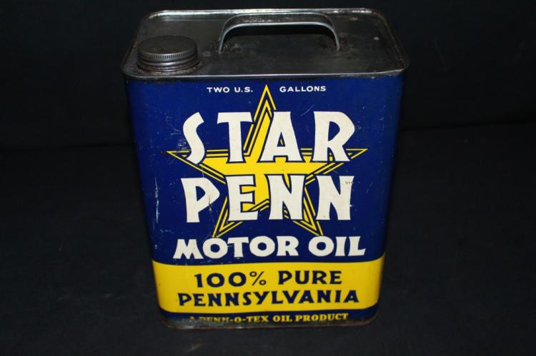 Penn O Tex Star Penn 2 Gallon OIl Can