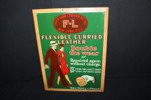 Fried Lang Leather Co New York City Tin Sign