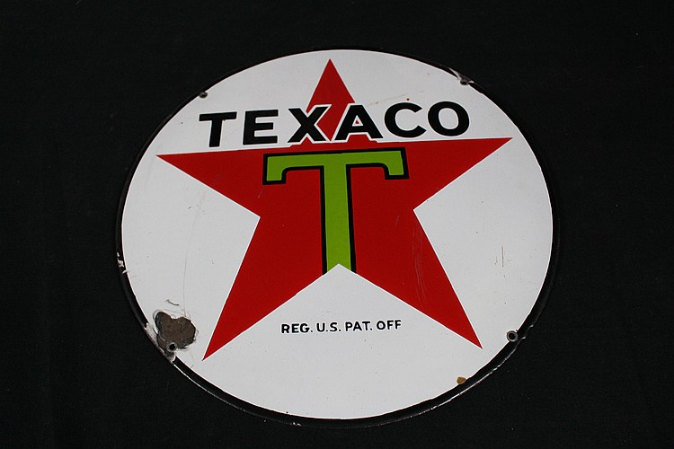 Texaco  Double Sided Lubester Sign