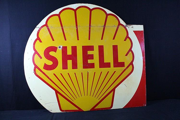 Large Shell Gas Station Billboard Sign