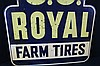 US Royal Farm Tires Tin Sign Double Sided