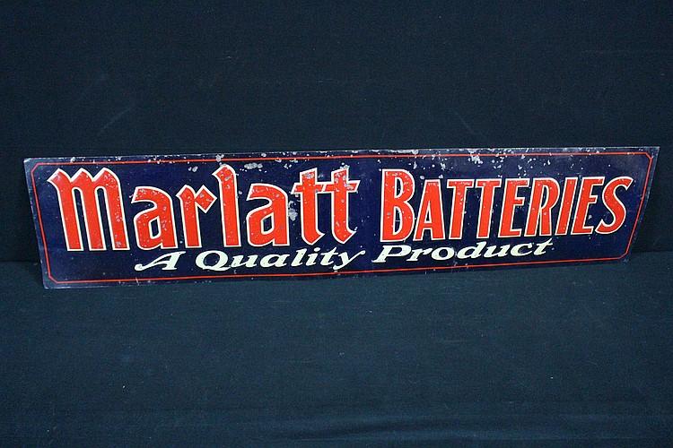 Marlatt Batteries Service Station Tin Sign