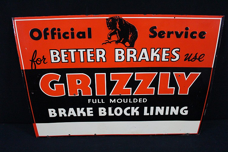 Grizzly Brakes Official Service Tin Sign