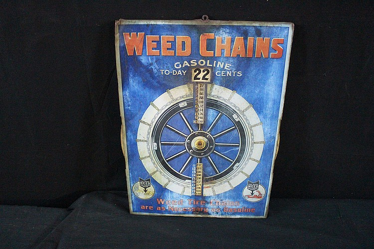 Weed Increments Chart Weed Baloon Tire Chains Rotating Size Chart Sign