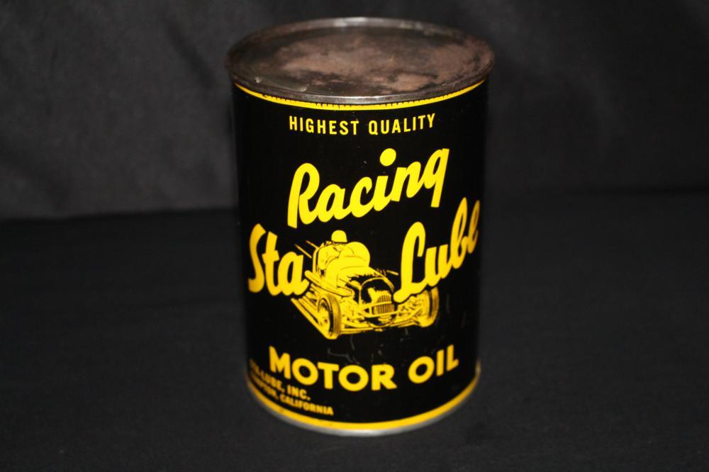 QUART OIL CAN RACING STA LUBE COMPTON CALIFORNIA