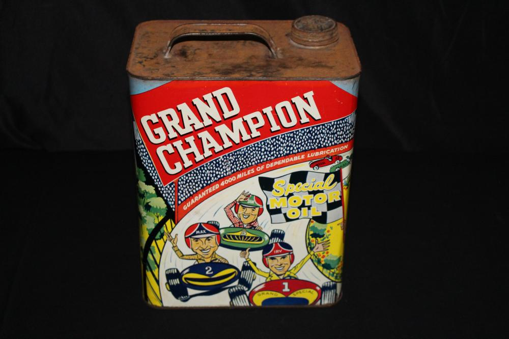 2 GAL OIL CAN GRAND CHAMPION AUTO STORES