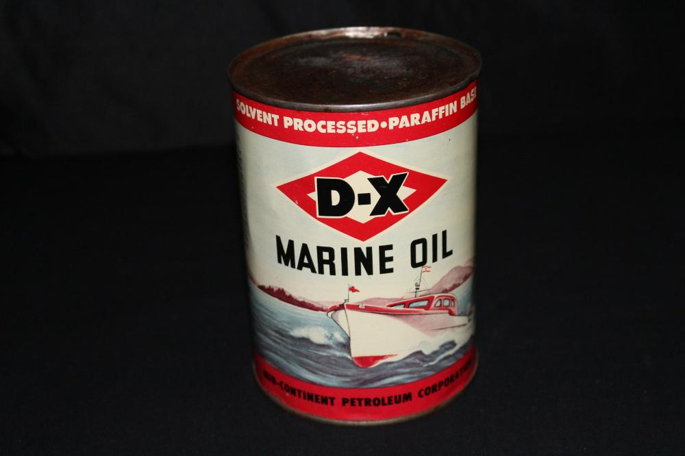 QUART OIL CAN DX D-X MARINE OUTBOARD