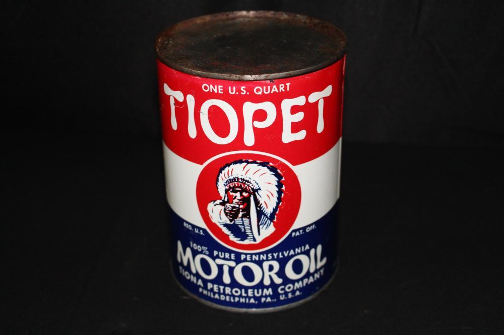QUART OIL CAN TIOPET TIONA PENN PHILADELPHIA PA