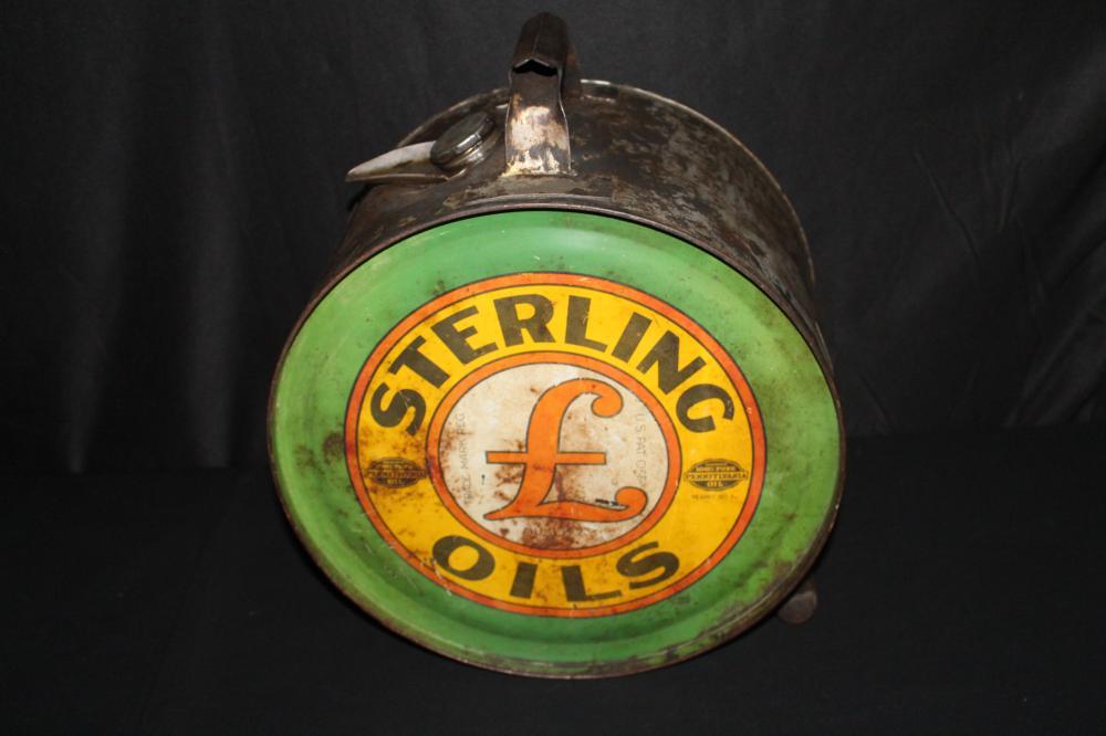 5 GAL ROCKER OIL CAN STERLING OILS