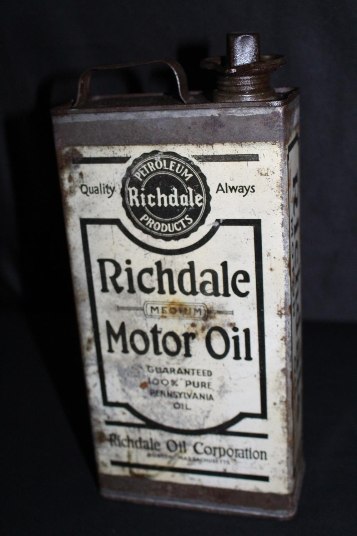 1/2 GAL OIL CAN RICHDALE OIL CO BOSTON MA