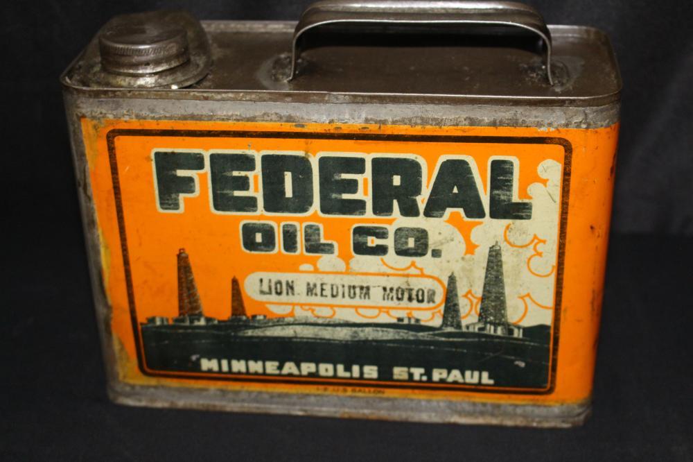1/2 GAL OIL CAN FEDERAL CO MINNEAPOLIS ST PAUL MN