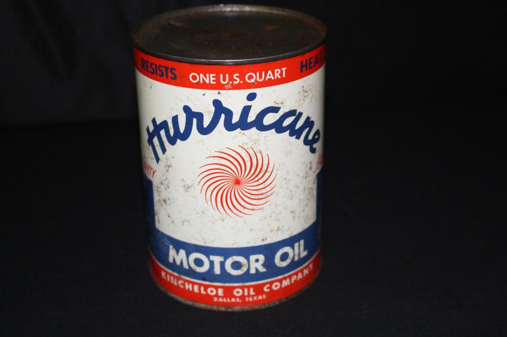 QUART OIL CAN HURRICANE OIL CO DALLAS TEXAS