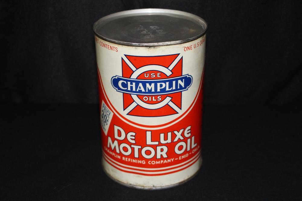 QUART OIL CAN CHAMPLIN DE LUXE ENID OKLAHOMA