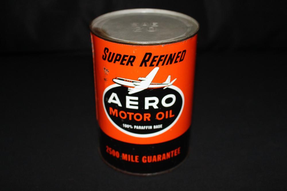 QUART OIL CAN AERO CHRISTENSON OIL CO PORTLAND OR