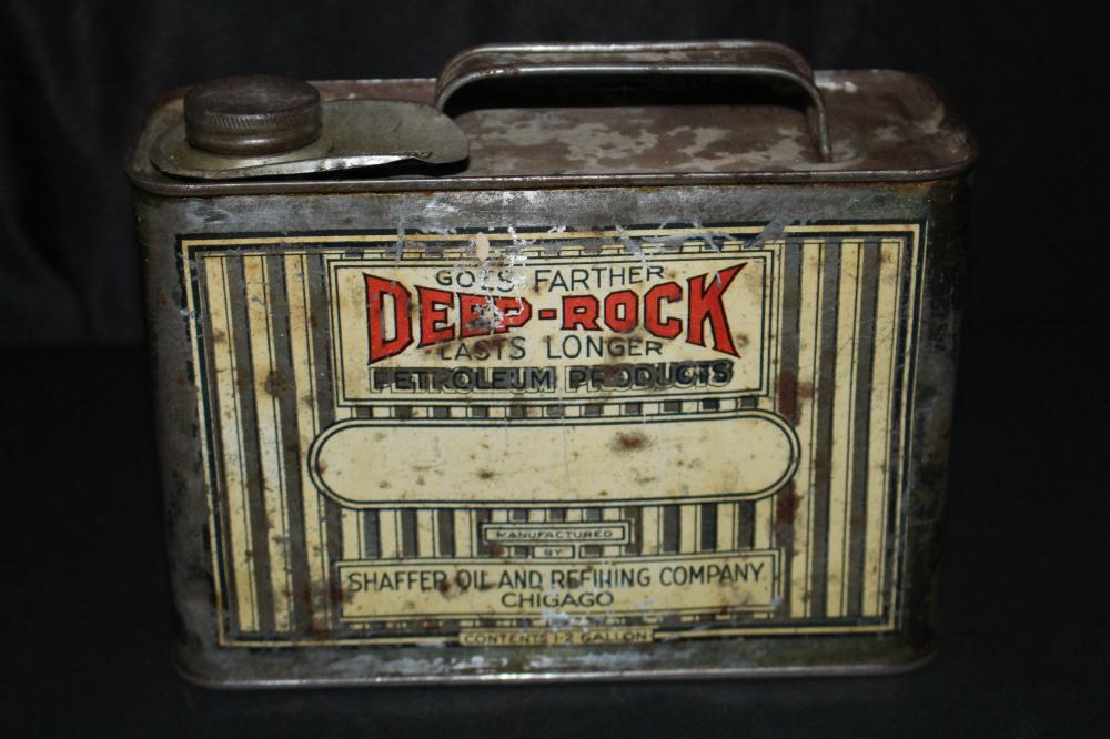 1/2 GAL OIL CAN DEEP ROCK SHAFFER OIL CO CHICAGO