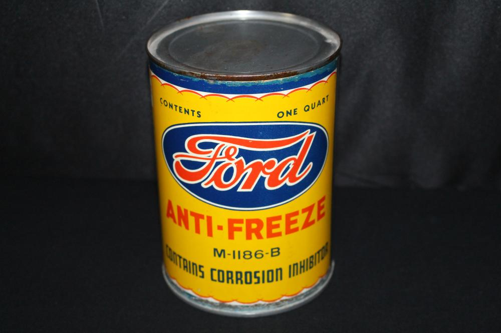 QUART ANTI FREEZE OIL CAN FORD MOTOR CO