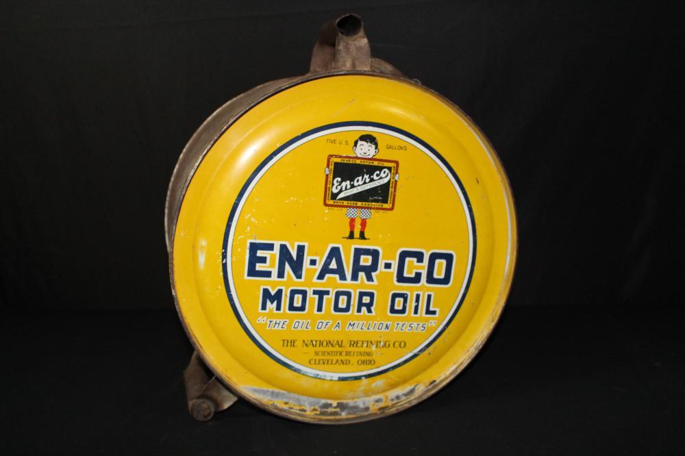 5 GAL ROCKER OIL CAN ENARCO CLEVELAND OHIO