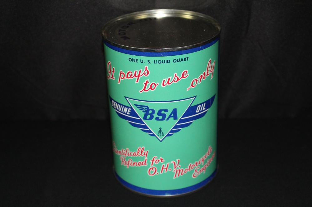 QUART OIL CAN BSA MOTORCYCLE
