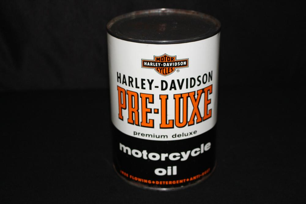 QUART OIL CAN HARLEY DAVIDSON MOTORCYCLE PRELUXE