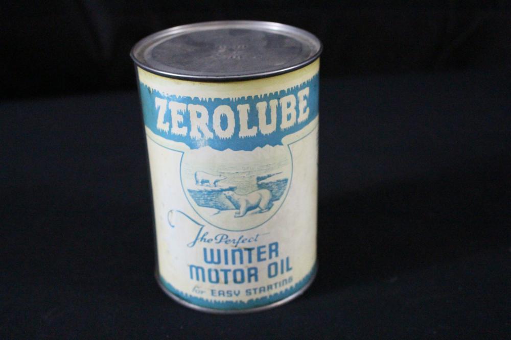 QUART OIL CAN ZEROLUBE PENN GLENN POLAR BEAR