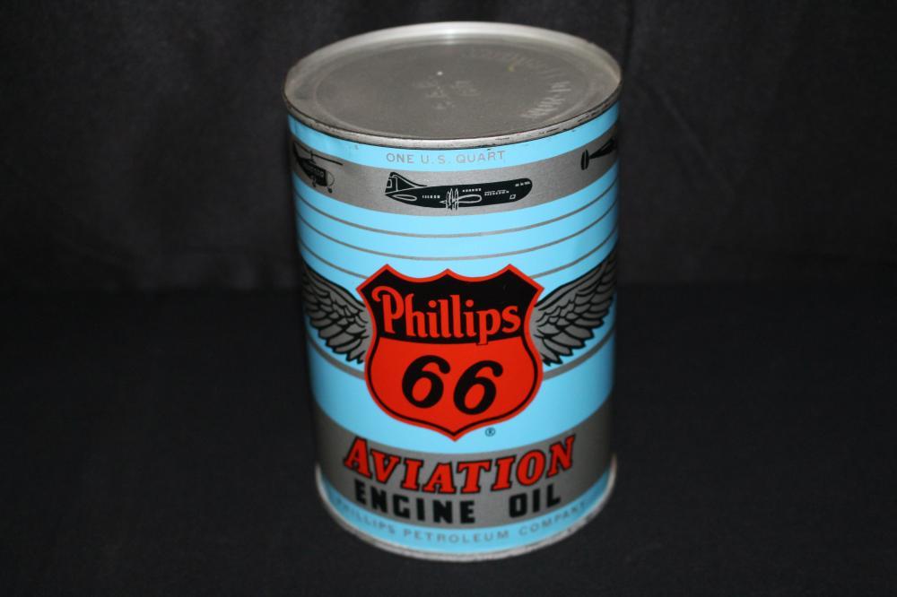 QUART OIL CAN PHILLIPS 66 AVIATION OIL