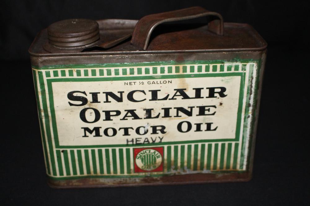 1/2 GAL OIL CAN SINCALIR OPALINE