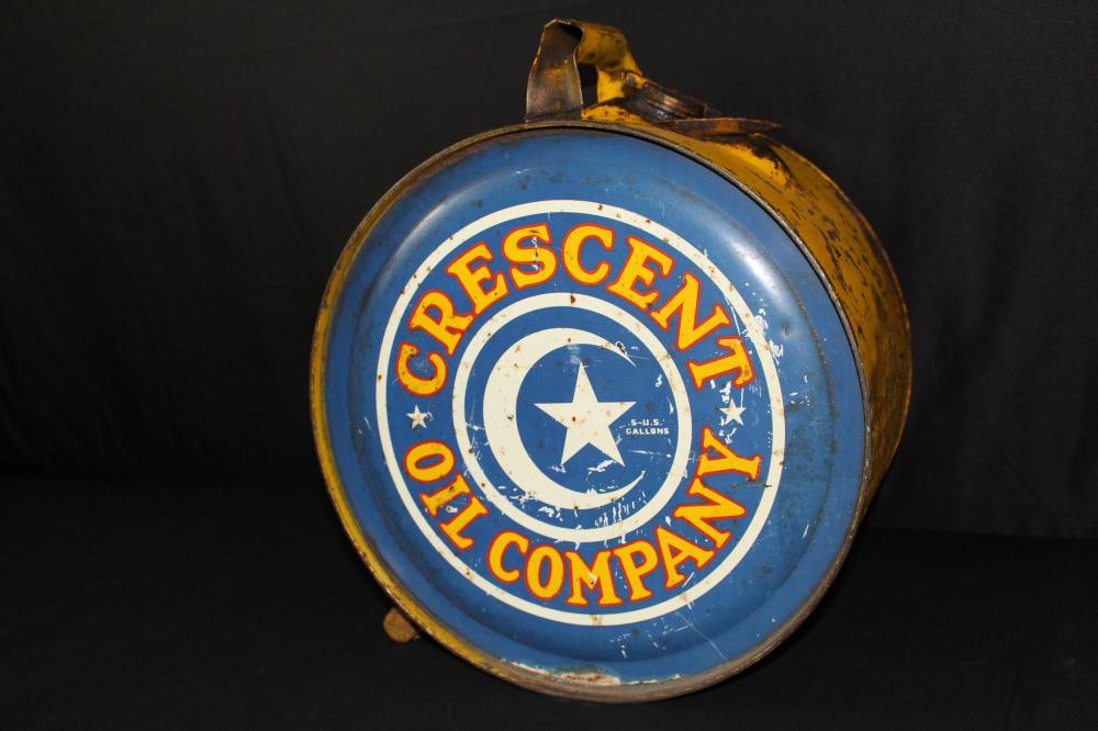 5 GAL ROCKER OIL CAN CRESCENT OIL CO