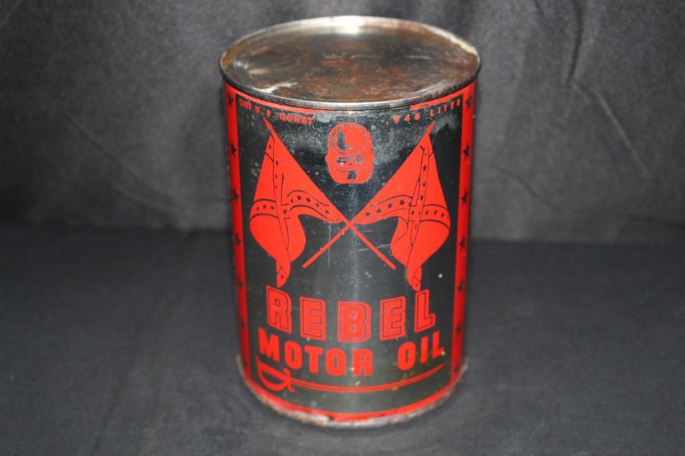 QUART OIL CAN REBEL OIL CO