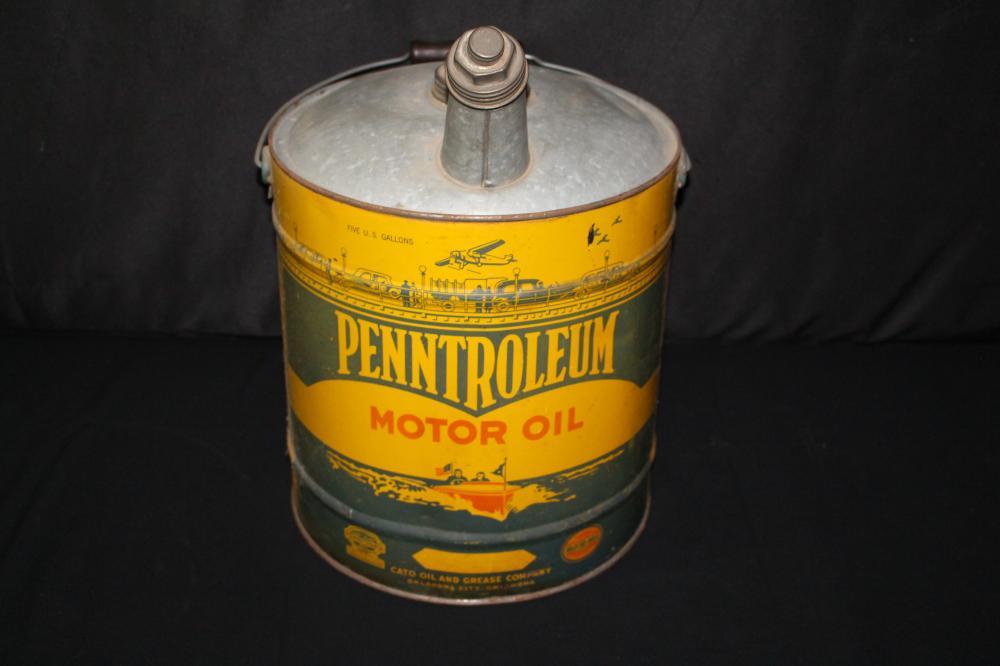 5 GAL OIL CAN PENTROLEUM OKLAHOMA CITY OK