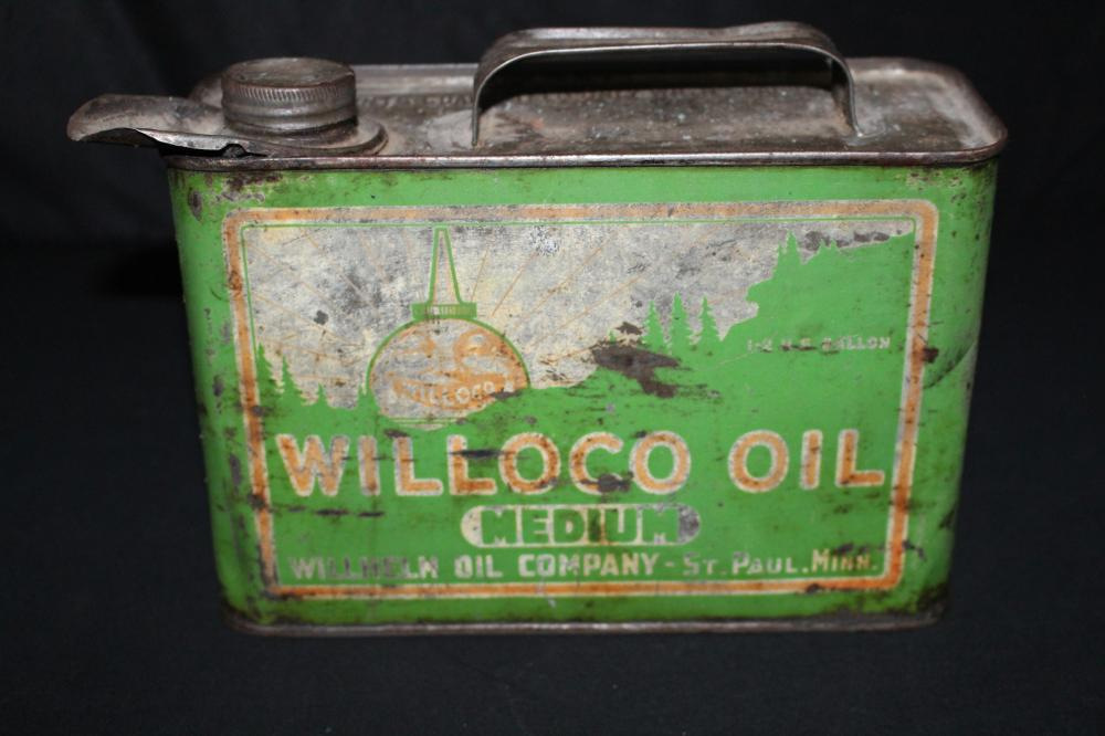 1/2 GAL OIL CAN WILLOCO WILLHELM OIL CO ST PAUL MN
