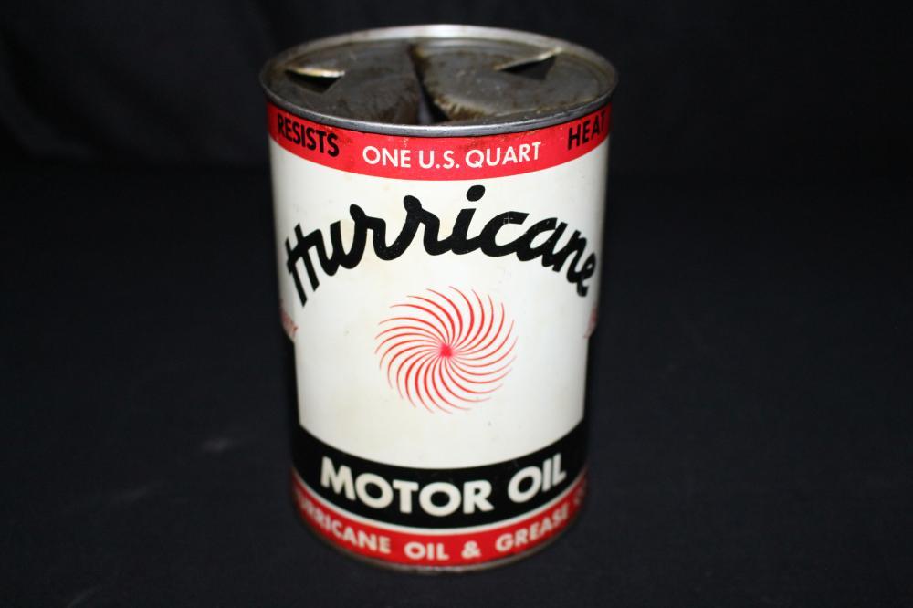 QUART OIL CAN HURRICANE OIL CO SHREVEPORT LA