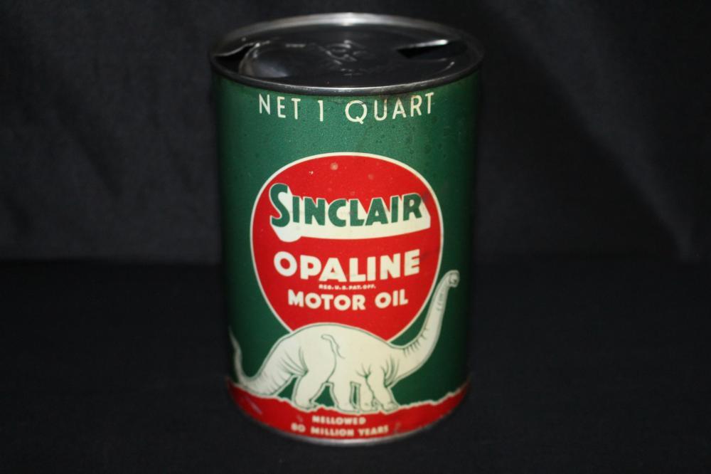 QUART OIL CAN SINCLAIR OPALINE DINOSAUR