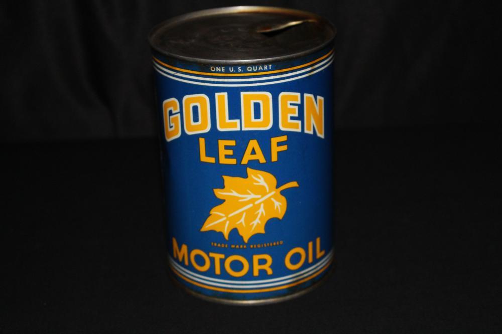 QUART OIL CAN GOLDEN LEAF GOLDEN STATE CALIFORNIA