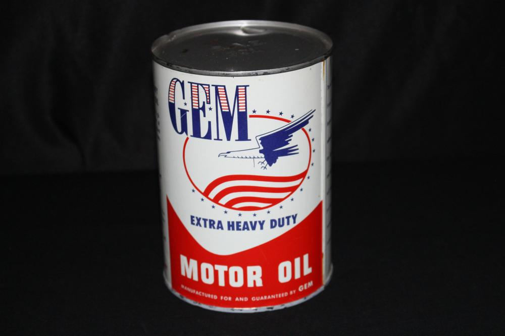 QUART OIL CAN GEM EXTRA HEAVY DUTY EAGLE LOGO