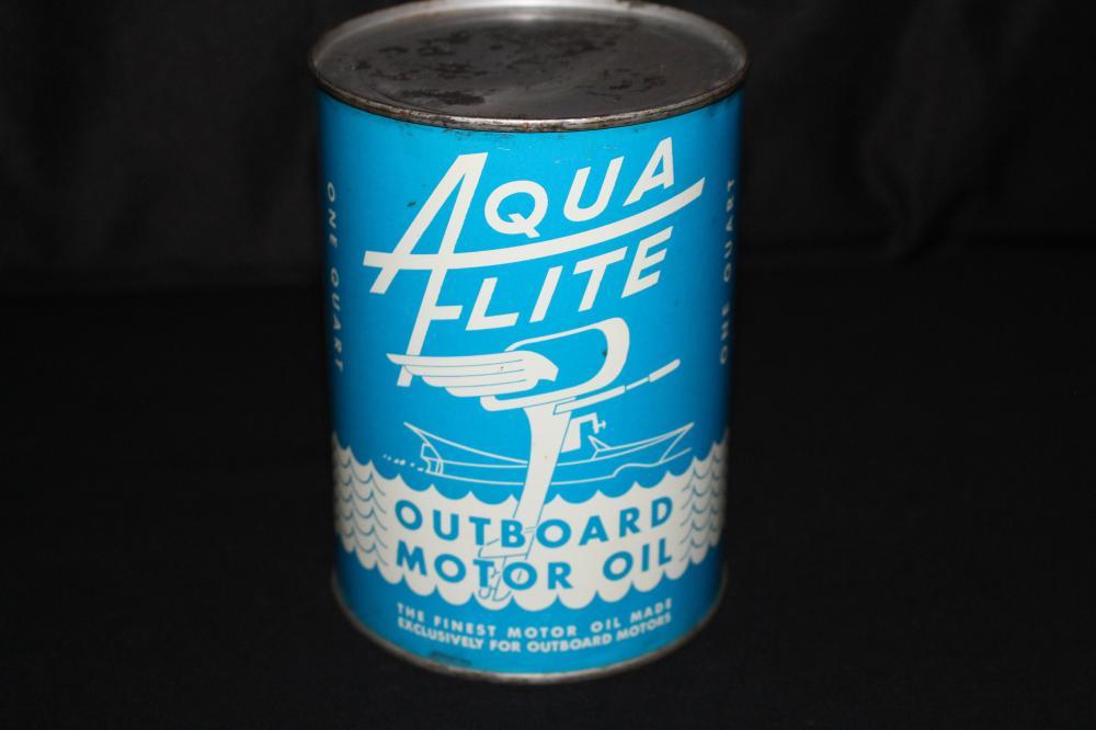 QUART OIL CAN AQUAFLITE OUTBOARD MOTOR TEXAS