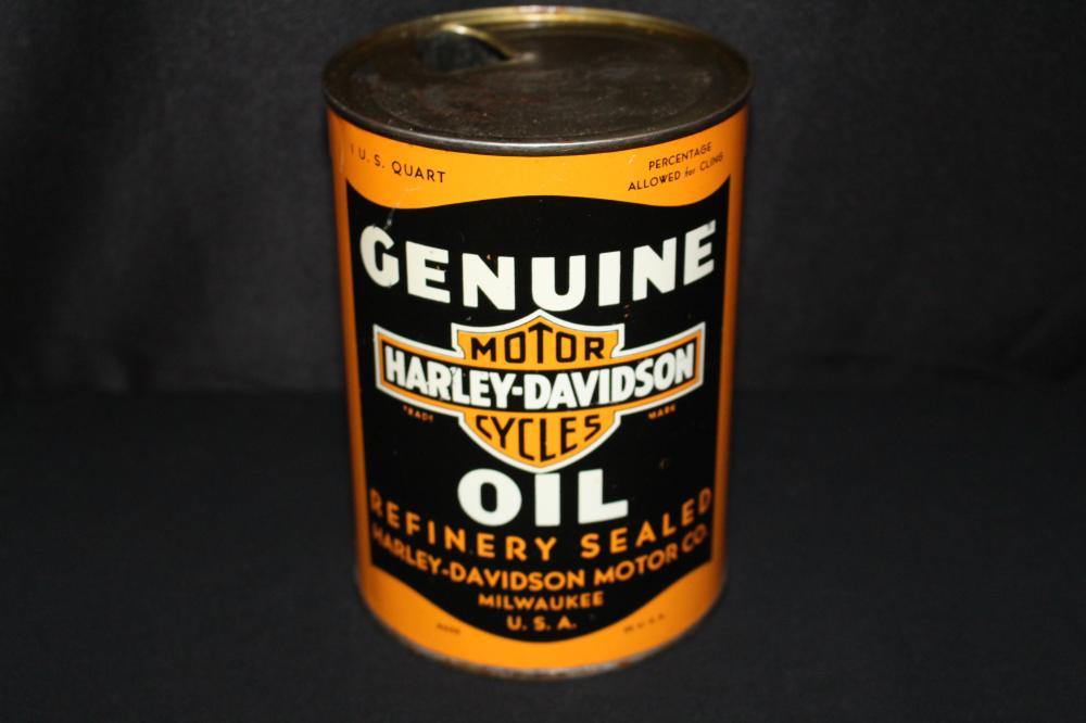 QUART OIL CAN HARLEY DAVIDSON MOTORCYCLE