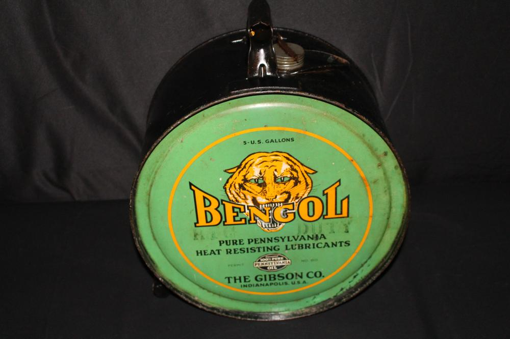 5 GAL ROCKER OIL CAN BENGOL GIBSON INDIANAPOLIS IN