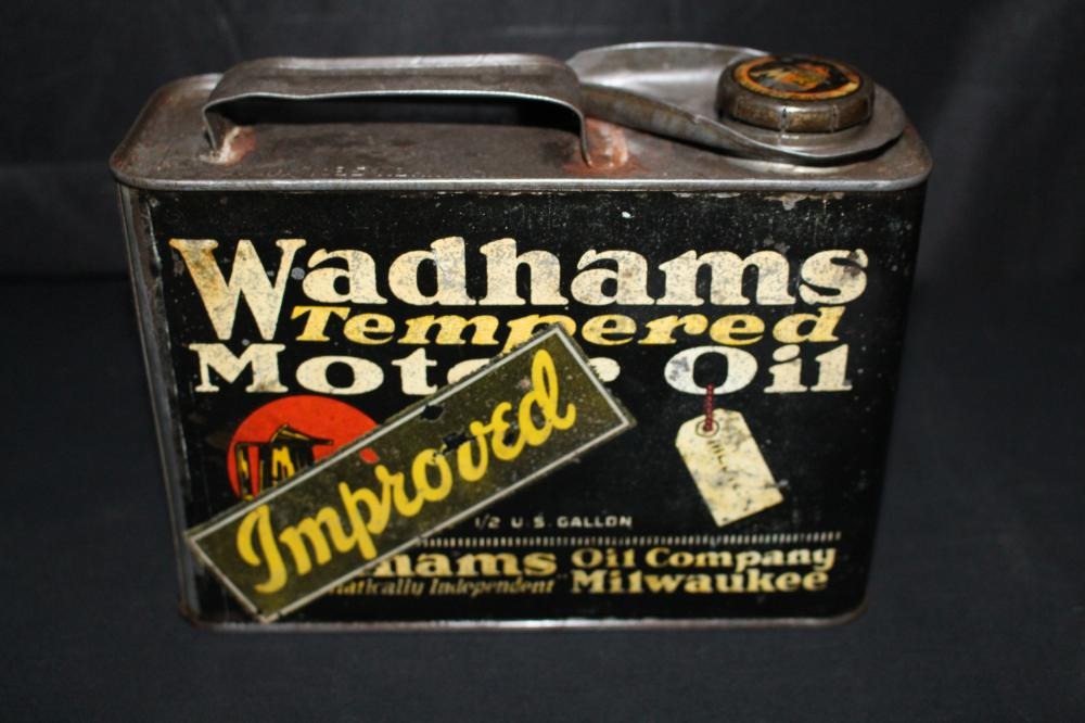 1/2 GAL OIL CAN WADHAMS IMPROVED MILWAUKEE WI