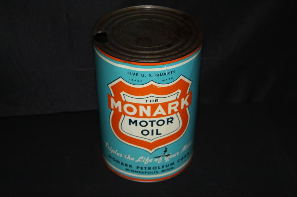 5 QUART OIL CAN MONARK PETROLEUM MINNEAPOLIS MN