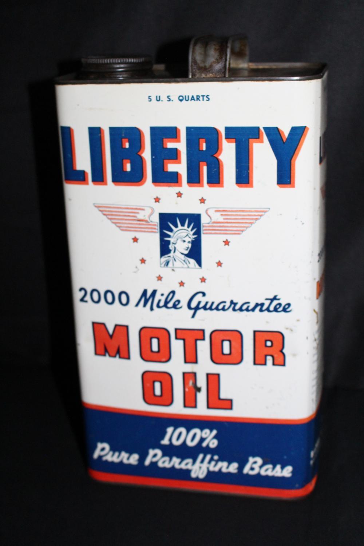 5 QUART OIL CAN LIBERTY RADBILL OIL PHILADELPHIA