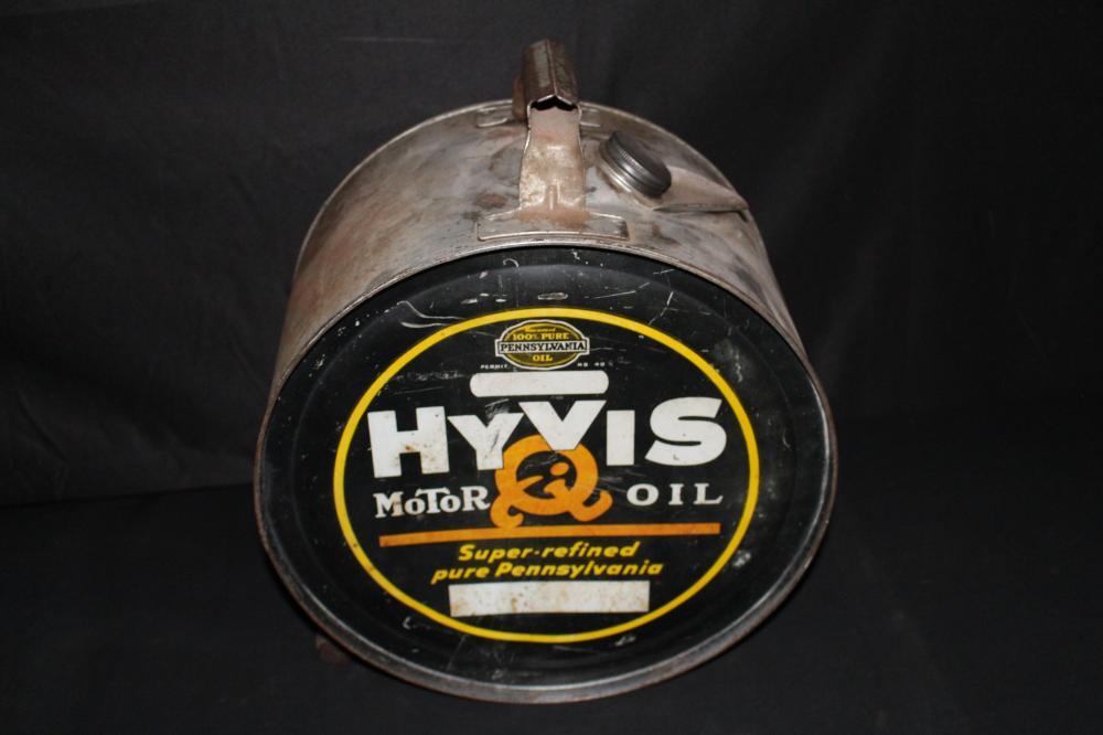 5 GAL ROCKER OIL CAN HYVIS MOTOR OIL
