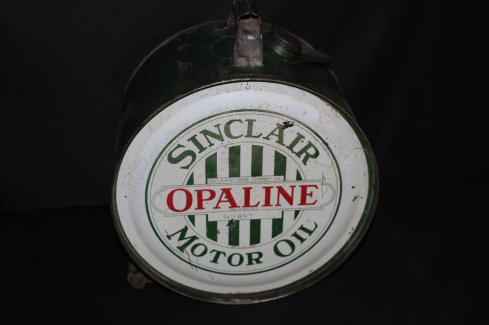 5 GAL ROCKER OIL CAN SINCLAIR OPALINE