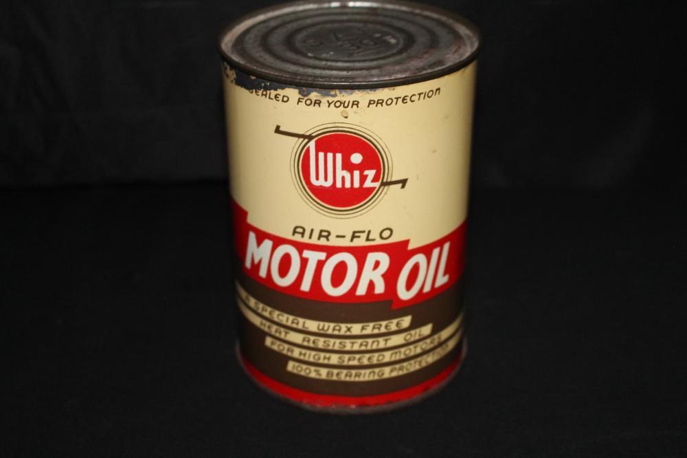 QUART OIL CAN WHIZ AIR-FLO MOTOR OIL