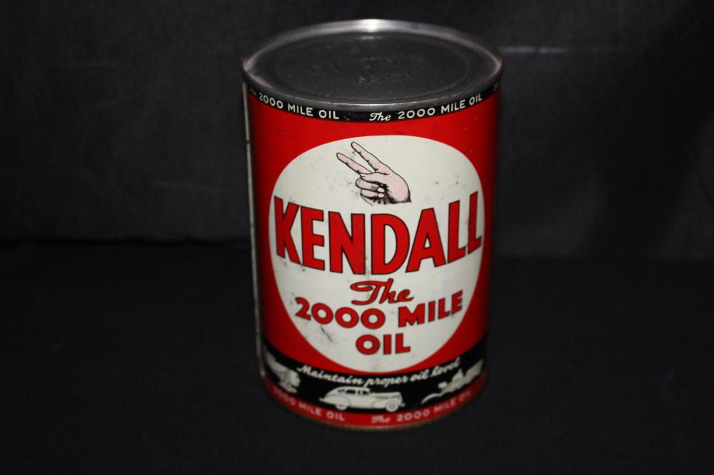 QUART OIL CAN KENDALL 2000 MILE MOTOR OIL