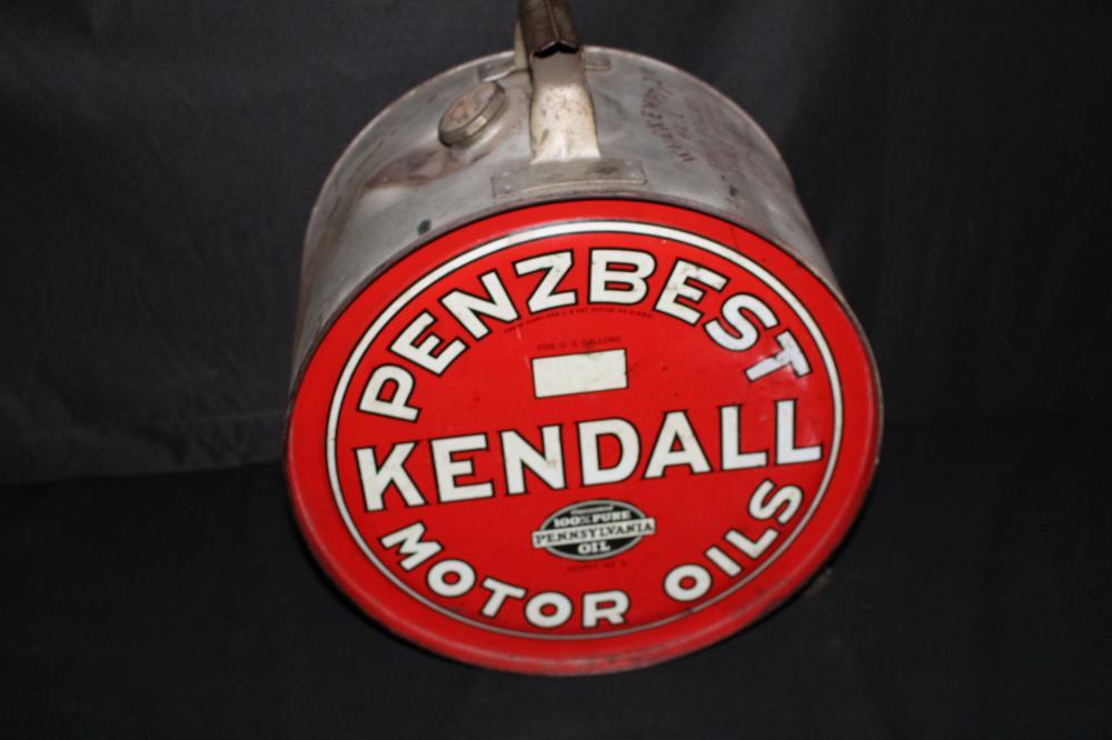 5 GAL ROCKER OIL CAN KENDALL PENNZBEST MOTOR OIL